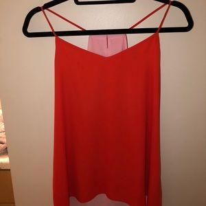 Express Pink and red blouse